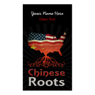 American Chinese Roots Custom Business Cards