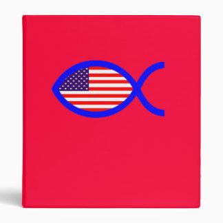 American Christian Fish Symbol Flag Binders