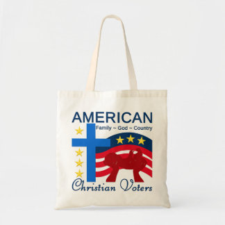 American Christian Voters Canvas Bags