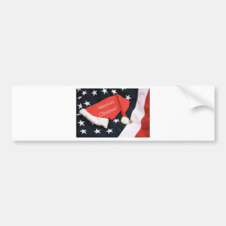American Christmas Bumper Sticker