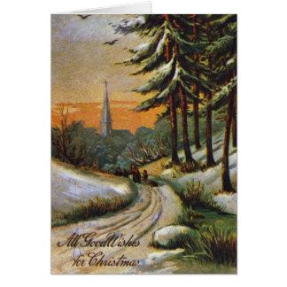 AMERICAN CHRISTMAS CARD. Late 19th century. Card