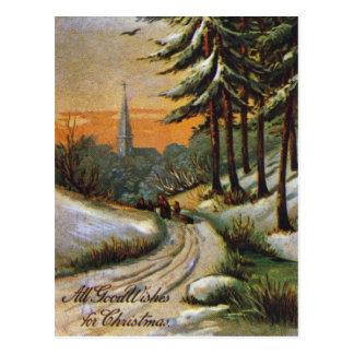 AMERICAN CHRISTMAS CARD. Late 19th century. Postcard