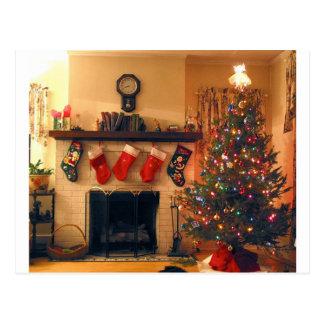 American Christmas Home Postcard