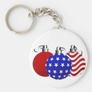 American Christmas Keychains