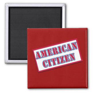 American Citizen 2 Inch Square Magnet