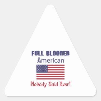 american citizen design triangle sticker