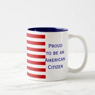 American Citizen Flag Two Tone Coffee Mug by Janz