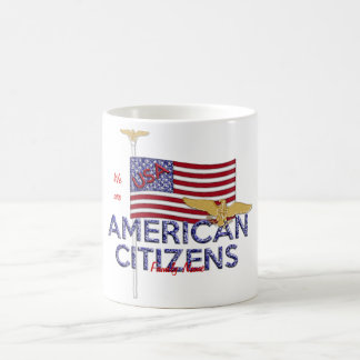 American Citizen Glittered Coffee Mugs