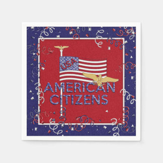 American Citizens, Red-Blue-Paper Party Napkins