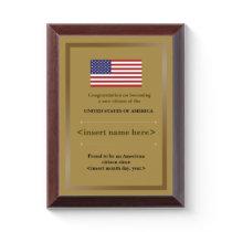 American Citizenship Award Plaque