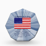"""American Citizenship Flag Award with Date<br><div class=""""desc"""">Custom Calendar Designs by Janz &#169; 2008-2017 Jan Fitzgerald. All rights reserved. Graphic Design,  Artwork,  &amp; Photography by Jan &amp; Michael Fitzgerald...  9 awards SOLD to date ;-)</div>"""