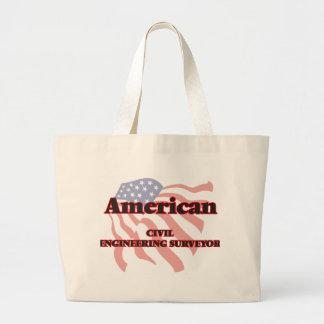 American Civil Engineering Surveyor Jumbo Tote Bag