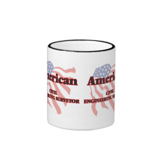 American Civil Engineering Surveyor Ringer Coffee Mug