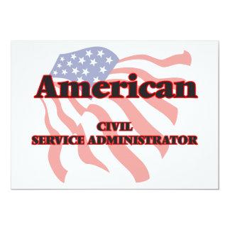 American Civil Service Administrator 5x7 Paper Invitation Card