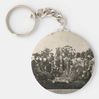 American Civil War Battalion Washington Artillery Basic Round Button Keychain
