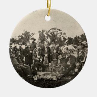 American Civil War Battalion Washington Artillery Double-Sided Ceramic Round Christmas Ornament