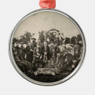 American Civil War Battalion Washington Artillery Round Metal Christmas Ornament