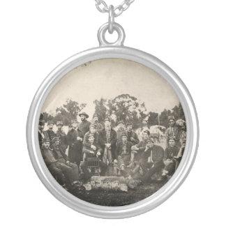 American Civil War Battalion Washington Artillery Round Pendant Necklace
