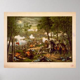 American Civil War Battle of Chancellorsville Poster