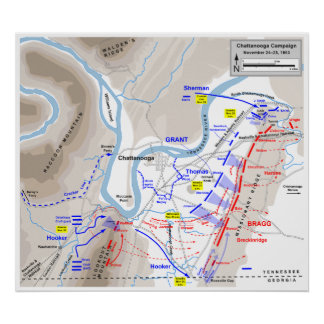 American Civil War Battle of Chattanooga 1863 Poster