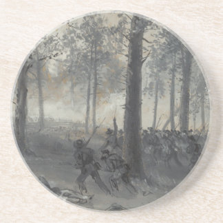 American Civil War Battle of Chickamauga by Waud Drink Coaster