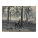 American Civil War Battle of Chickamauga by Waud Post Card