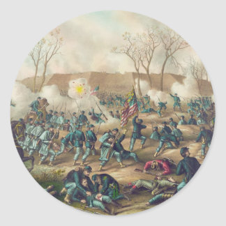 American Civil War Battle of Fort Donelson 1862 Classic Round Sticker
