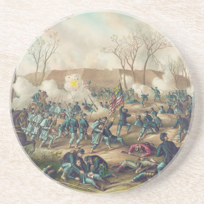 American Civil War Battle of Fort Donelson 1862 Coaster