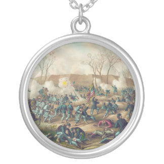 American Civil War Battle of Fort Donelson 1862 Silver Plated Necklace
