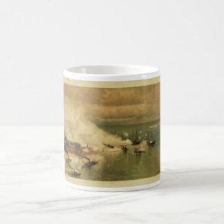 American Civil War Battle of Mobile Bay by L Prang Coffee Mug