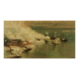 American Civil War Battle of Mobile Bay by L Prang Poster