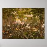 American Civil War Battle of the Wilderness Poster