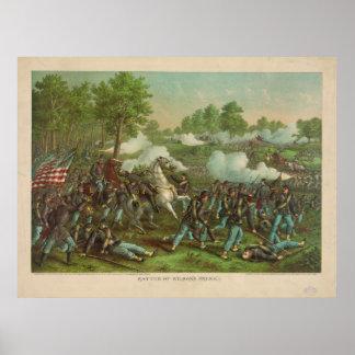 American Civil War Battle of Wilson's Creek 1861 Poster