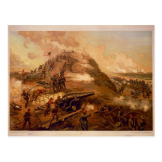 American Civil War Capture of Fort Fisher Post Card