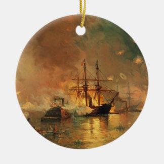 American Civil War Capture of New Orleans Ceramic Ornament