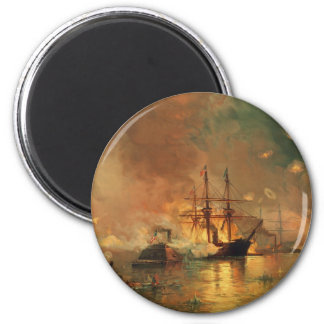 American Civil War Capture of New Orleans 2 Inch Round Magnet