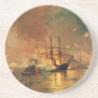 American Civil War Capture of New Orleans Sandstone Coaster