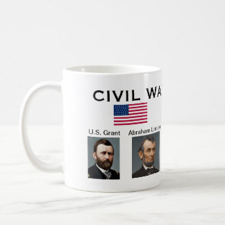 American Civil War* Leaders Cup Classic White Coffee Mug