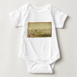 American Civil War Picketts Charge by Edwin Forbes Baby Bodysuit