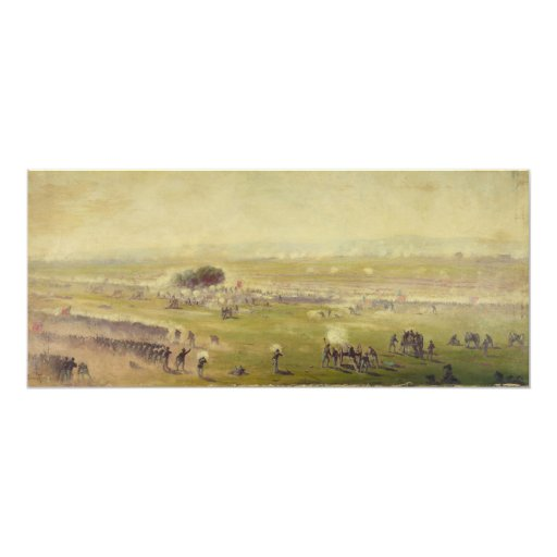 American Civil War Picketts Charge by Edwin Forbes 4x9.25 Paper Invitation Card