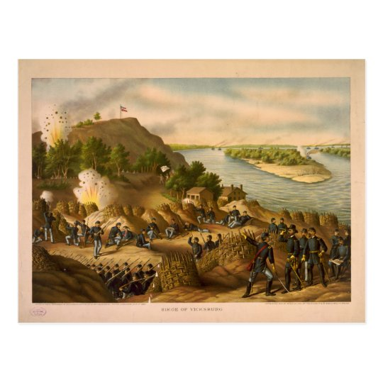 American Civil War Siege of Vicksburg in 1863 Postcard