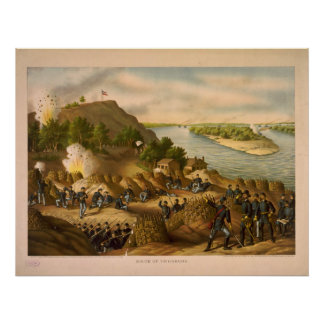 American Civil War Siege of Vicksburg in 1863 Poster