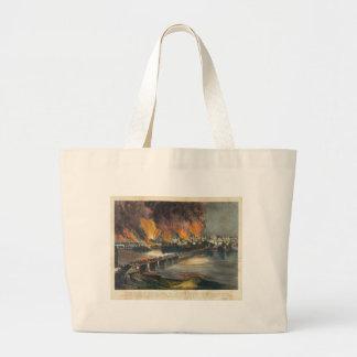 American Civil War The Fall of Richmond April 1865 Jumbo Tote Bag