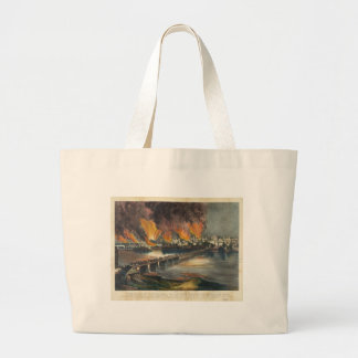 American Civil War The Fall of Richmond April 1865 Large Tote Bag