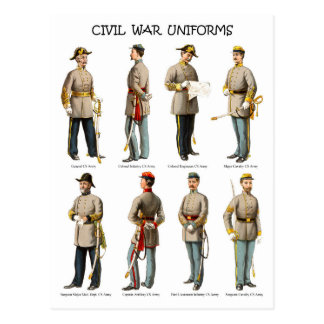 American Civil War Uniforms Postcard