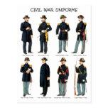 American Civil War Uniforms Postcards