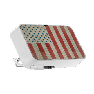 American Civilian Flag Vintage Doodle Speakers