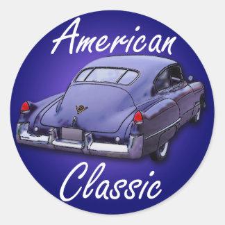 American Classic 1949 Cadillac Classic Round Sticker