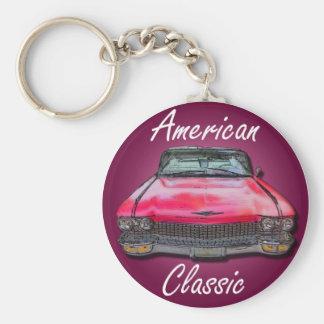 American Classic 1960 Cadillac Basic Round Button Keychain
