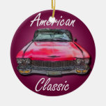 American Classic 1960 Cadillac Double-Sided Ceramic Round Christmas Ornament